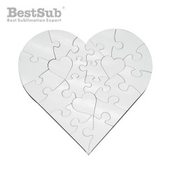 MDF jingsaw puzzle heart 17...