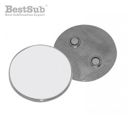 Round metal magnet 5 x 5 cm...