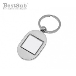 Metal rotated square fob...