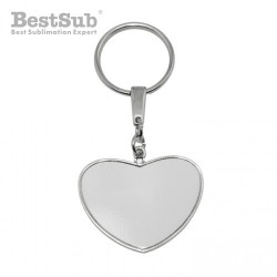 Heart-shaped metal fob for...