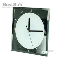Glass frame clock 20 x 20...
