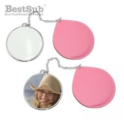 Round mirror Pink...