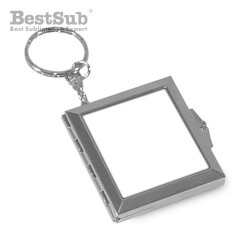 Square mirror key ring...