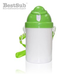 Children water bottle green...