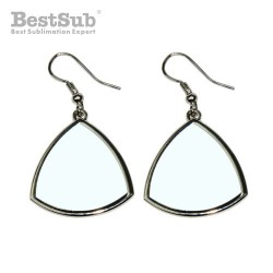 Curved triangle earrings...