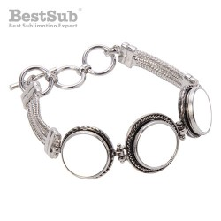 Metal bracelet with three...
