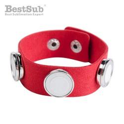 Suede bracelet with 3...