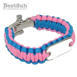 Paracord Bracelet Blue Pink...