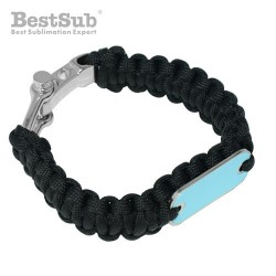 Paracord bracelet black...
