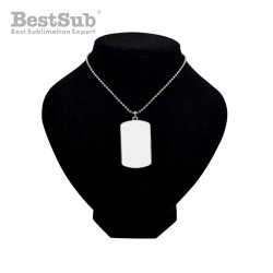 Necklace rectangular with...