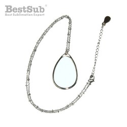 Necklace water drop with...