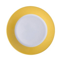 Plate with yellow edge...