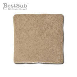 Hewn brown matte ceramic...